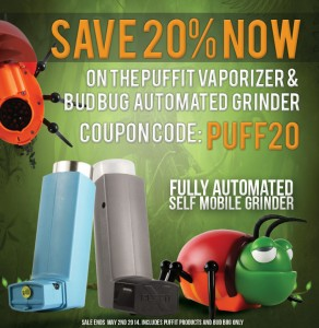 Bug Bud Automated Grinder 20% Off - Click Here For More Details