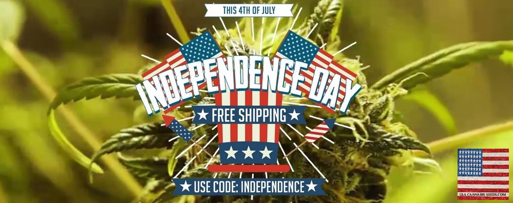 Independance Day Free Shipping On All Cannabis Seeds